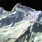 Normal Route, Manaslu (8 163 m / 26 782 ft)