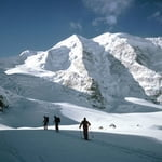 Piz Bernina Ski Touring, Alps