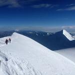 reaching the summit of illimani
