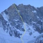 Сolton-McIntyre Route, Grandes Jorasses (4 208 m / 13 806 ft)