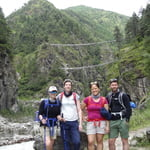 Suspension Bridge below Namche