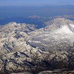Elbrus Massif Aerial View