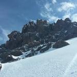 Rocks below summit