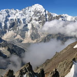 via West Ridge, Dykhtau (5 204 m / 17 074 ft)