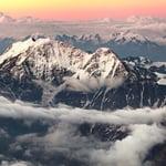 Mount Elbrus (5642m) ski descent.