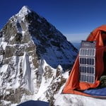 Camp near the northern peak of Ushba after passing the southern peak. Trekking-Experts