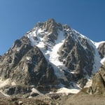"""""""Expromtus"""" south-east face of south ridge, Tyutyu (4 460 m / 14 633 ft)"""