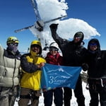 Icy summit at Pico de Orizaba