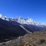 Dingbuche view from Nagkar Tshang Peak (5,616m)