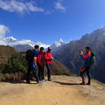 View from Namche, Kumjung