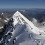 Northeast Ridge, Delone Peak (4 260 m / 13 976 ft)
