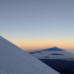 Shadow of Pico de Orizaba at first hour in  the morning