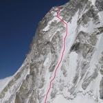 West Face, Chomo Lonzo (7 790 m / 25 558 ft)