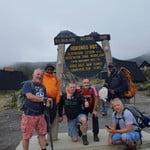 Kilimanjaro Horombo Hut point with climbers