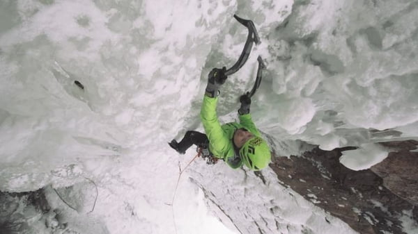 Ice climbing helped her out of addiction; now, she's pulling others up