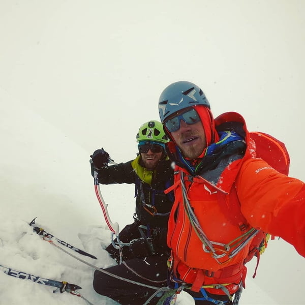 Simon Messner, Martin Sieberer summit Black Tooth in Karakorum