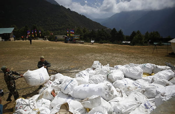 More Than 10 Tonnes of Garbage Collected from Everest