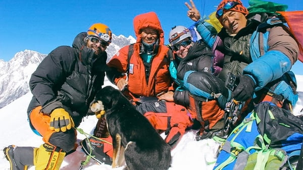 The First Dog Ascent Of A 7 000 Meter Himalayan Peak