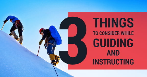 3 things to consider when guiding