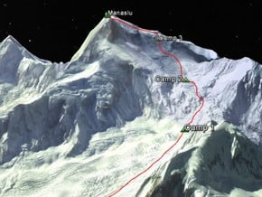 Image of Normal Route, Manaslu (8 163 m / 26 782 ft)