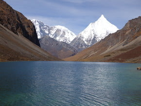Image of Jomolhari, Chomolhari Kang (7 121 m / 23 363 ft)