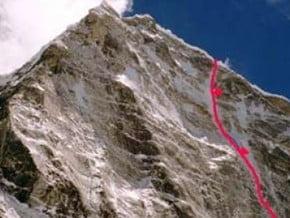 Image of North Face, Kangtega (6 782 m / 22 251 ft)