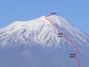 Image of Normal Route, Greater Ararat (5 137 m / 16 854 ft)