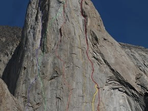 Image of on the center of the North wall, Peak Slesova (4 240 m / 13 911 ft)
