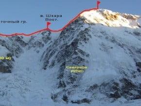 Image of North-East Ridge, Shkhara (5 193 m / 17 037 ft)