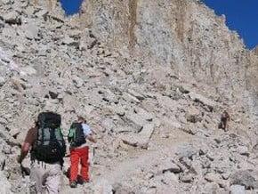 Image of Whitney Trail, Mount Whitney (4 418 m / 14 495 ft)
