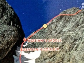 Image of Normal Route, Asatiani (3 842 m / 12 605 ft)