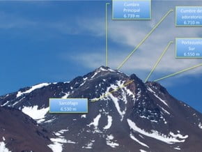 Image of North West Face, Cerro Llullaillaco (6 730 m / 22 080 ft)
