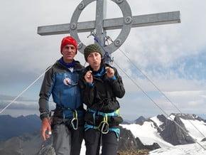 Image of Normal route, Fluchtkogel (3 500 m / 11 483 ft)