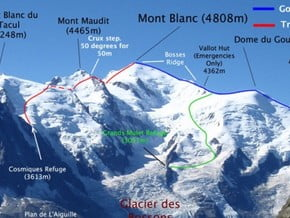 Image of 3 Mounts Traversee, Mont Blanc (4 810 m / 15 781 ft)