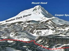 Image of Cooper Spur Route, Mount Hood (3 429 m / 11 250 ft)