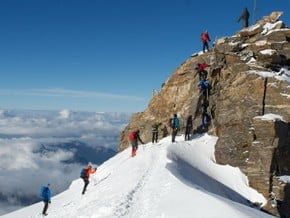 Image of South-East Ridge, Monte Rosa (4 634 m / 15 203 ft)