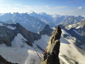 Image of Via Pilier Paquet, Le Rateau (3 809 m / 12 497 ft)
