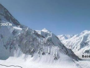 Image of via Japanese Couloir, Gasherbrum I (8 080 m / 26 509 ft)