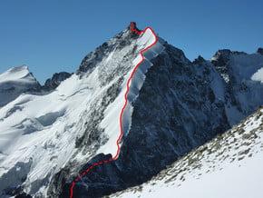 Image of Bianco ridge, Piz Bernina (4 049 m / 13 284 ft)