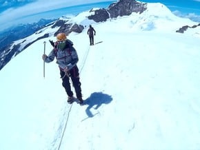 Image of Normal Route, Vincent Pyramid (4 215 m / 13 829 ft)
