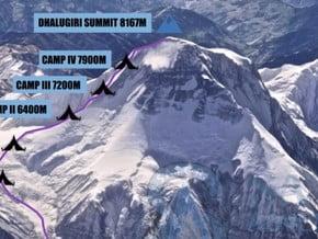 Image of North East Ridge, Dhaulagiri (8 167 m / 26 795 ft)