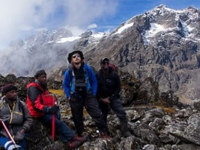 Image of From the Bujuku Hut, Mount Speke (4 891 m / 16 047 ft)