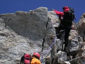 Image of Portjengrat via northwest ridge (from Almagellerhof), Portjengrat (3 654 m / 11 988 ft)