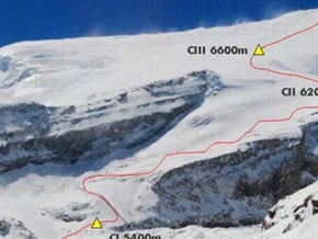 Image of Normal Route, Putha Hiunchuli (7 246 m / 23 773 ft)