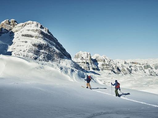 Ski tour to the top of Cima Roma