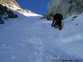 Image of West-South Face, Aiguille d'Argentière (3 900 m / 12 795 ft)