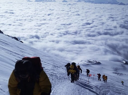 Itinerary of 8-days Mt. Elbrus climb from south