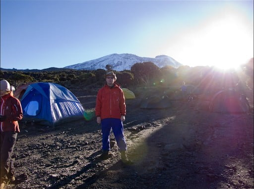 Kilimanjaro volcano crater summit climb Machame route