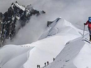 Image of via Gouter Ridge, Mont Blanc (4 810 m / 15 781 ft)