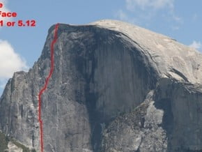 Image of North West Face, Half Dome (2 690 m / 8 825 ft)